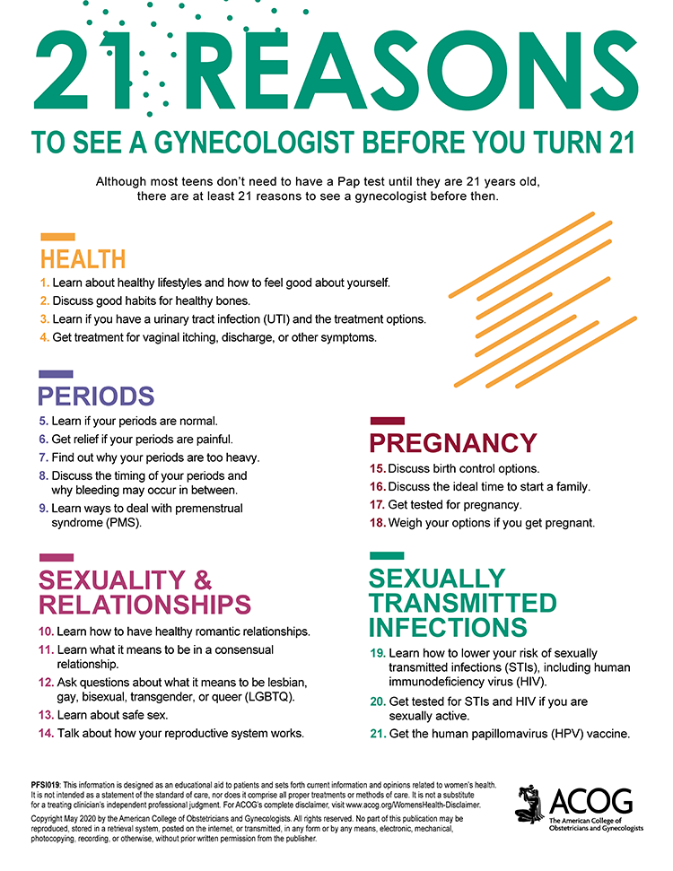 21 Reasons to See a Gynecologist Before You Turn 21